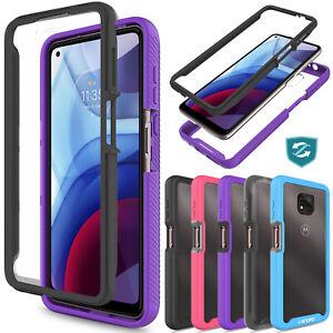 For Motorola Moto G Power/G Play/One 5G Ace 2021 Case Full Body Slim Phone Cover