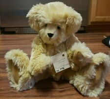 """Jointed Collector Handmade Soft Teddy Bear """"Normand"""" Plush By Anne"""