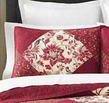 TWO Martha Stewart Somerset Square Standard Pillow Shams Quilted Cotton NEW