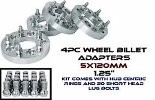 """4pc 1.25"""" Thick 5x120 Wheel Spacers Adapters Kit For BMW 12x1.5"""