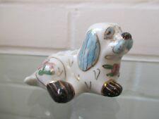 CLOISONNE EMAUX SUR PORCELAINE fait main chien blanc