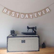 ❤️ Wedding Bunting Banner. BEST DAY EVER. Hessian Burlap❤️