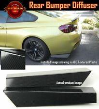 "Pair 18"" Rear Bumper Lip Carbon Effect Apron Splitter Diffuser Valence For Benz"