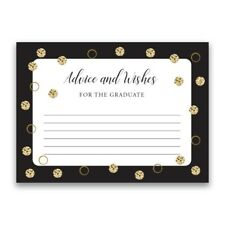 Paper Frenzy Advice and Wishes Gold Shimmer Dot for the Graduate Cards