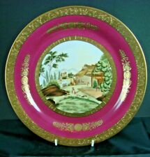 KPM Hand Painted Plate - Beautifully decorated Plate with lovely gilding