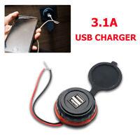 12V/24 3.1A Car Cigarette Lighter Socket Twin USB Charger Power Adapter Outlet