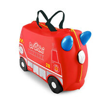 Trunki Ride-on Suitcase Frank The Fire Engine 18l Volume Suitable for Carrying