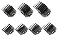 Andis 7 PC Clipper Attachment  Universal Comb Guides Set # 01380 Improved Master