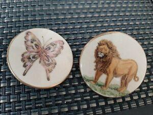 Vintage Satsuma Butterfly Lion Button lot
