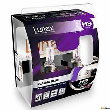 H9 709 Lunex PLASMA BLUE 4200K 12V 65W Halogen Headlamps PGJ19-5 Hard Case