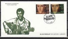 Albania, Scott cat. 2498-2499. Elvis Presley issue. First day cover.