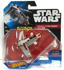 Hot Wheels Star Wars REPUBLIC ATTACK GUNSHIP #13 Fighter Starship Disney New NIP