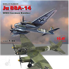 ICM 1/48 JUNKER JU 88A-14 WWII GERMAN TWIN ENGINE BOMBER KIT