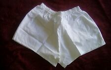 "French White Cotton PT/Running Shorts (3"" Inseam) Fits29-34 Overall length13""Med"