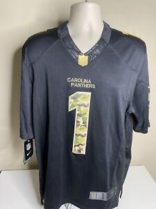Carolina Panthers Cam Newton Nike Salute To Service Jersey Size Small Black NWT
