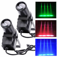 2X 30W RGBW LED Pin Spot  Stage Lighting DMX DJ Disco Bar Effect Light Lamp