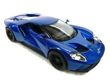 "New 5"" Kinsmart 2017 Ford GT 1:38 Scale Diecast Model Toy Car- BLUE"