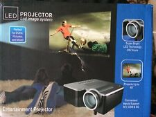 Home Theater Projector, LED, for DVD, pictures & More, remote & cords in bundle