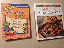 Slow Cooker Crockpot Cookbook Lot Betty Crocker's 1999 1st edition Busy People's