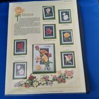 WILDFLOWERS AND ROSES:  2 DISPLAY PAGES :  ROMANIA AND HUNGARY:  MINT