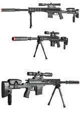 UKARMS P1050 Spring Power Airsoft Sniper w/ Scope, Flashlight, Laser & Pistol