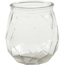 Faceted glass candle holder (6 pack)