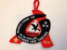 OA (BSA) 2011 SR 7B Section Conclave Participant Dangle Patch - Black - Wahissa
