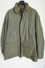 PURDEY HUNTING FIELD JACKET XL MADE IN ITALY OLIVE GREEN X-LARGE COAT