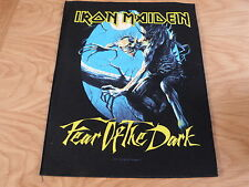 IRON MAIDEN - FEAR OF THE DARK GIANT BACK PATCH (NEW) OFFICIAL BAND MERCHANDISE