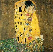 "The Kiss by Gustav Klimt, Canvas Print, 16""x16"", Giclee Canvas Print"