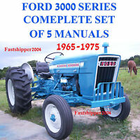 Ford 3000 Series Tractor SERVICE, PARTS Catalog, OWNERS Manual -5- Manuals 65-75