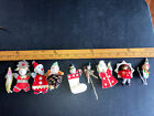 Lot Vintage Package Tie Ons Elf Santa Spun cotton made in Japan Chenille Rare