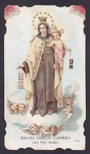 SANTINO 90 MADONNA DEL CARMELO - HOLY CARD IMMAGINETTA RELIGIOSA IMAGE PIEUSE