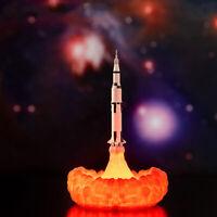 3.7V 3D Printing Rocket LED Night Light Table Desk Lamp Room Decor Rechargeable