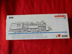 MARKLIN MALLET STEAM LOCO No 83496 SILVER TANK ENGINE MINT IN BOX TESTED ONLY