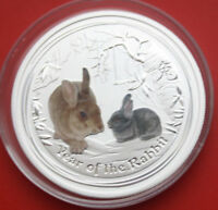 Australien: 50 Cents 2011-Perth Year of the Rabbit, #F 1957, colored, ST-BU