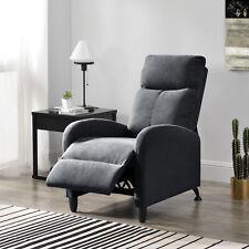 Relaxsessel Fernsehsessel Polster Sessel Liegefunktion Liegestuhl Textil Grau