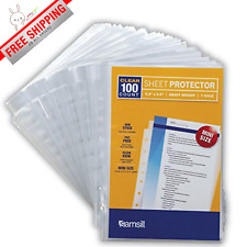 Best 100 Mini Clear Heavyweight Sheet Protectors Top Loading 7 Hole Protectors