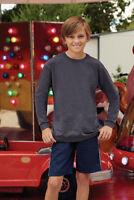 kids long sleeve t shirt Plain fruit of The Loom Children's Youth T-Shirts