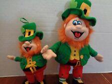 LOT OF 2 FESTIVE TIPSY ST PATRICKS DAY IRISH SHOEMAKER LEPRECHAUN  DOLLS