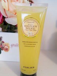 Perlier Miele Honey and Lemon Bath / Shower Cream  8.4 oz  New & Sealed