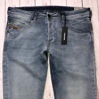 Mens DIESEL Belther Jeans W36 L32 Blue Regular Slim Tapered Wash 0854Y_STRETCH