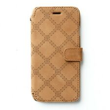 "Zenus Vintage Quilt Diary Genuine Leather Case for Apple iPhone 6S 6 (4.7"")"