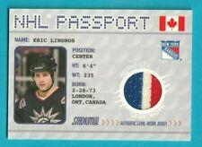 2002-03 Topps Stadium Club ERIC LINDROS NHL PASSPORT GAME-USED JERSEY #NHLP-3