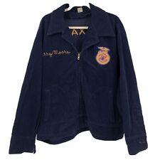 New listing Vintage Corduroy Jacket Coat Mens Sz 56 Texas Marshall Ffa Embroidery