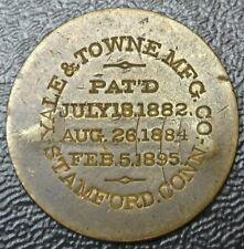 Vintage YALE & TOWNE MFG. CO. Stamford Conn. TOKEN-Lock Manufacturer -J.R. STEM.
