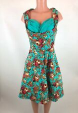 Lindy Bop Dress Sz L Ophelia Swing Floral Vintage Inspired Rockabilly Retro VLV