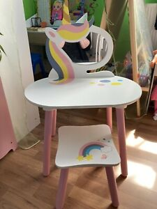 Girls Unicorn Dressing Table And Stool
