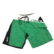 O'neill Boardshorts Size 34 Waist Swim Shorts Green Swimsuit Retro Color block
