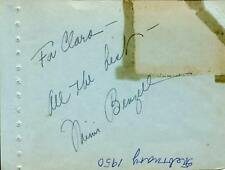 Mimi Benzell Opera Singer & Actress In Musical Comedy Time Signed Page Autograph